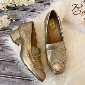 Franco Sarto Loafers LAURYN Metallic Gold, Size 8